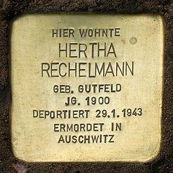 Photo of Herta Rechelmann brass plaque