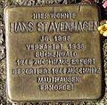 Stolperstein Arnstadt Markt 4-Hans Stavenhagen.JPG