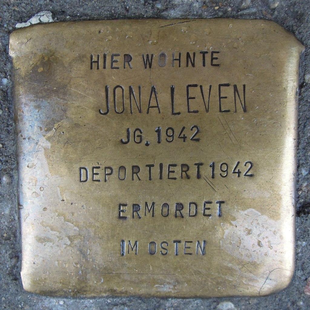Stolperstein für Jona Leven