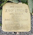 Stolperstein Tegeler Weg 95 (CharN) Jenny Lepehne.jpg