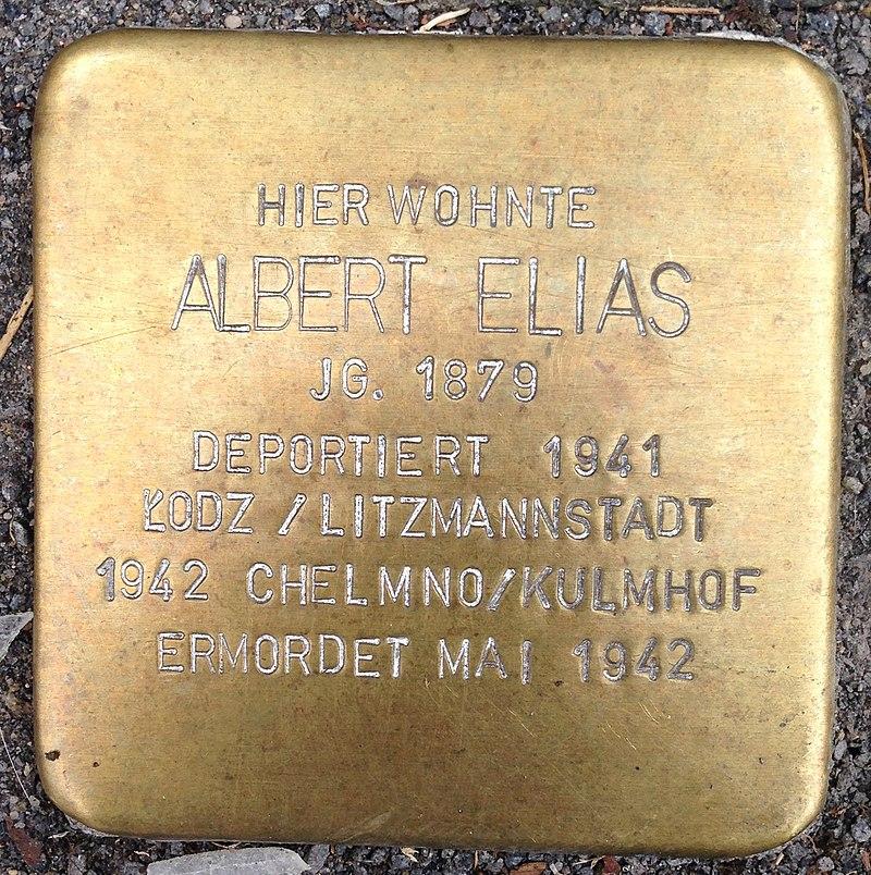 Stolperstein Waldbröl Querstraße 9 Albert Elias