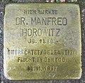 Stolperstein für Manfred Horowitz in der Kaiser-Wilhelm-Straße in Hamburg-Neustadt.jpg