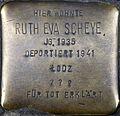 Stolpersteine Köln, Ruth Eva Scheye (Siegburger Straße 378).jpg