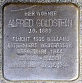Stolpersteine Krefeld, Alfred Goldstein (Bogenstraße 73).jpg
