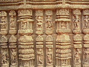 Arts of Odisha - Stone carving, Konark Sun Temple