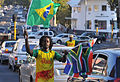 Street vendors selling flags in Johannesburg during World Cup 2010-06-18 2.jpg