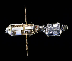 STS-88 - The ISS after STS-88 construction.