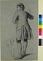 Study of a standing man knocking; sketch of a sitting man MET 60.620.42.jpg