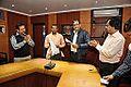 Subhabrata Chaudhuri - Gour Gopal Das Brahmachary - Chandrakant Das - Sasti Ghosal - MoU Exchange - Gaudiya Mission and NCSM - Kolkata 2014-12-17 1345.JPG