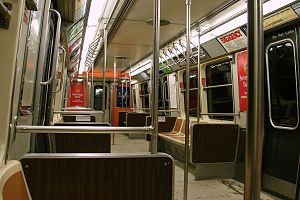 Port Authority Trans-Hudson (PATH) subway car