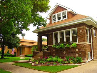 "Skokie, Illinois - A 1925 ""Chicago""-style bungalow in Skokie"