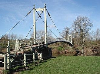 Sellack - Image: Suspension Footbridge over the River Wye geograph.org.uk 462183
