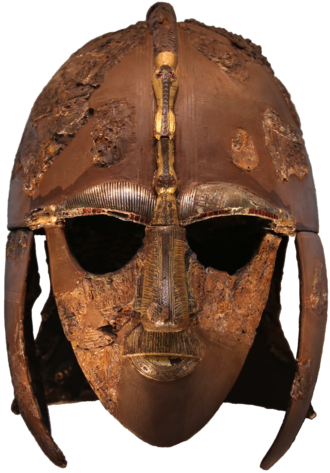 White dragon - Image: Sutton Hoo helmet 2016