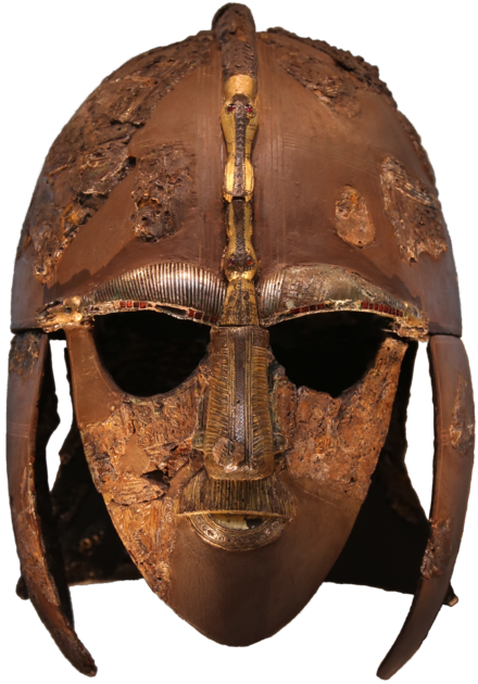 The Sutton Hoo helmet, an Anglo-Saxon parade helmet from the 7th century Sutton Hoo helmet 2016.png