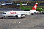 Swiss, HB-JBG, Bombardier CS100 (37679870281).jpg