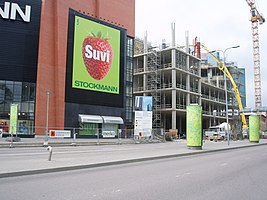 Swissôtel Tallinn during Construction 4 June 2005.JPG
