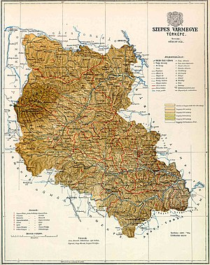 Szepes County - Map of Szepes County