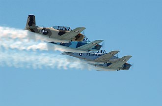 Beechcraft T-34 Mentor - T-34s of the March Field Aero Club at March Air Reserve Base, California in 2004