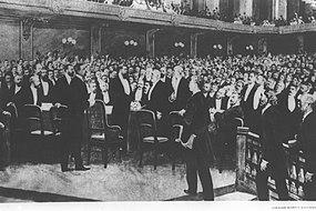 THEODOR HERZL AT THE FIRST ZIONIST CONGRESS IN BASEL ON 25.8.1897. תאודור הרצל בקונגרס הציוני הראשון - 1897.8.25.jpg