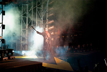 Sting entering the arena at Bound for Glory IV