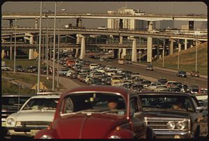 Interstate 69 - The Southwest Freeway, now I-69, in Houston in 1972