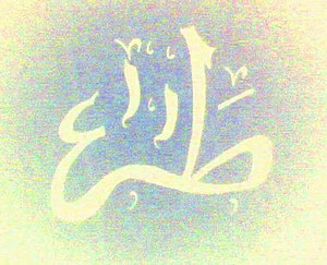 "Ta-Ha - Calligraphy of the letter ""Taa'"" and ""Haa'"""