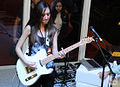 Tagima electric guitar (Telecaster) played - Expomusic 2014.jpg
