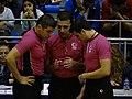 Tahsin Kuzu, Umut Özgün Ergün & Cemil Uygül Fenerbahçe women's basketball vs Samsun Canik Belediyespor TWBL 20181216.jpg