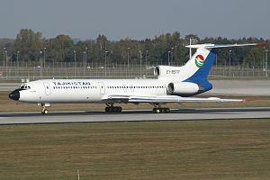 Tajikistan Airlines Flight 3183 - Tajikistan Airlines Tu-154, similar to the aircraft that crashed