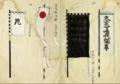 Takeda Shingen hata-jirushi; Nagao (Uesugi) Kenshin hata-jirushi.png