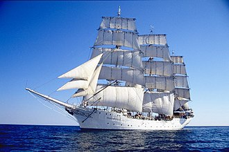 Windjammer (1958 film) - The Christian Radich, the ship featured in the film.
