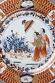 Tallrik i imarifärgerna, 1770-1775 - Hallwylska museet - 107688.tif