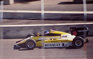 Patrick Tambay - Tambay at the 1984 Dallas Grand Prix where, like many others, he retired after hitting a wall.