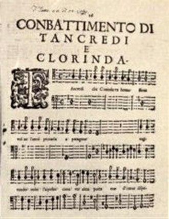 Il combattimento di Tancredi e Clorinda - Printed part