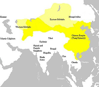 Tang dynasty - Tang dynasty at its greatest extent, c. 669a