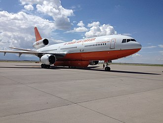 DC-10 Air Tanker - Tanker 912 taxiing in Albuquerque, New Mexico