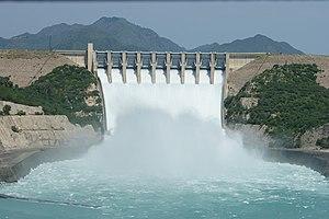 Tarbela Dam - Tarbela Dam during the 2010 floods