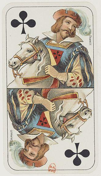 Großtarock - Cavalier of Clubs from the Tarot Nouveau deck.