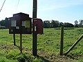 Tarrant Crawford, postbox No. DT11 111 and noticeboard - geograph.org.uk - 972988.jpg