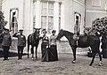 Tatiana and Olga Nikolaevna of Russia with horses outside the Alexander Palace.jpg