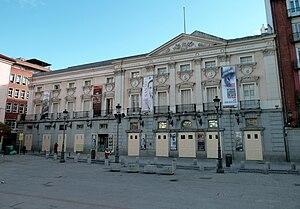 Teatro Español (Madrid) - Façade of Teatro Español facing Plaza de Santa Ana