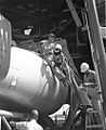 Technicians Get Ready Umbilical for Erection of 22E; Pad 13. Date- 06-14-1961 (21469529938) (2).jpg