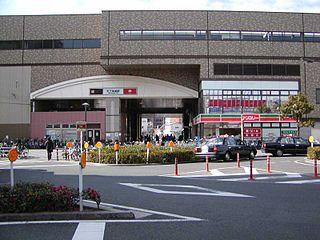 Tengachaya Station Railway and metro station in Osaka, Japan