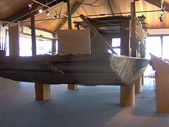 Nathan Bedford Forrest State Park - Jon boat on display at the Tennessee River Folklife Center