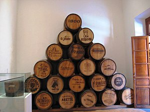 Tequila, Jalisco - Tequila barrels on display at the National Museum of Tequila