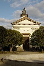 La chiesa di Terezin in una foto del 2005