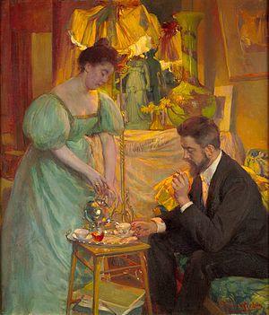 Rodolphe Wytsman - Herman Richir: The Tea Hour (c. 1896)
