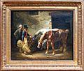 Théodore géricault, due cavalli della posta alla porta di una stalla, 1822-23.jpg