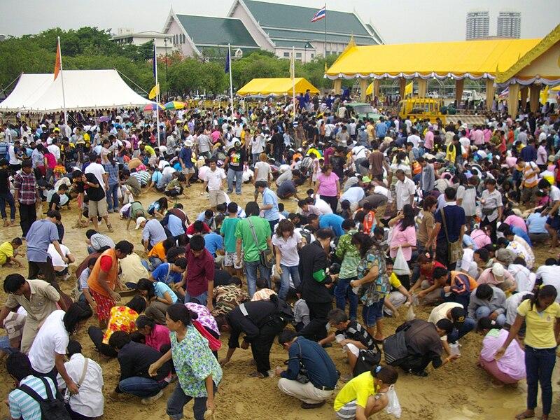 ไฟล์:Thai Royal Ploughing Ceremony 2009 - rice finding 5.jpg