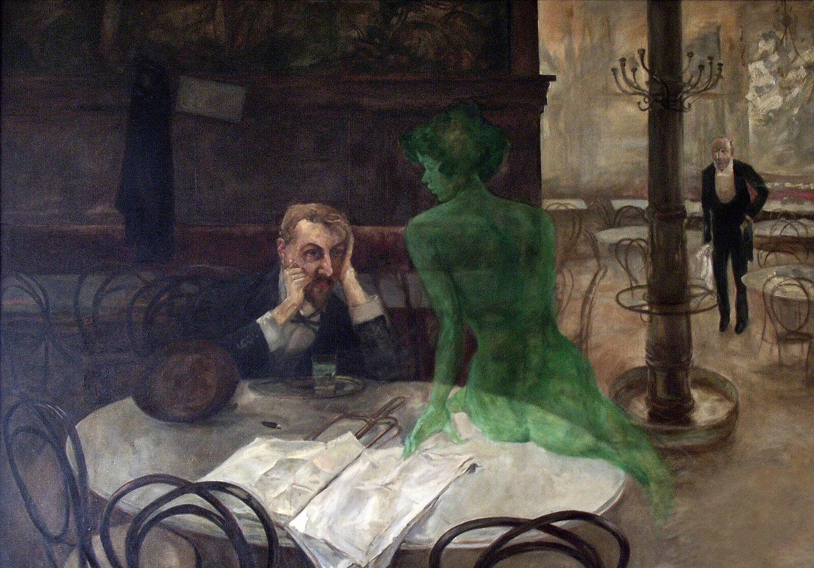 """Виктор Олива, """"Пьющий абсент"""", 1901"""